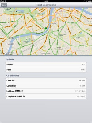 Screenshot Distance Tool on iPad