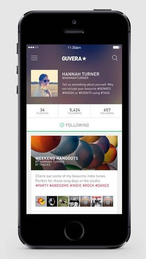 Screenshot Guvera Music on iPhone
