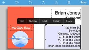 Screenshot BusinessCardMaker for iOS on iPhone