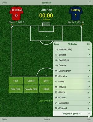 Screenshot Score Soccer on iPad