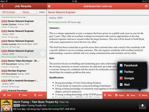 Screenshot Jobs Search on iPad