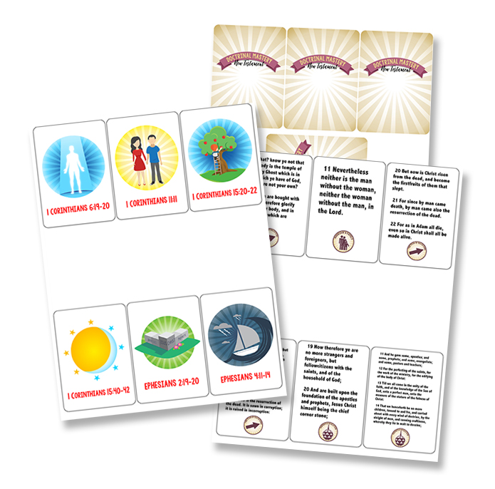 New Testament Doctrinal Mastery Playing Cards