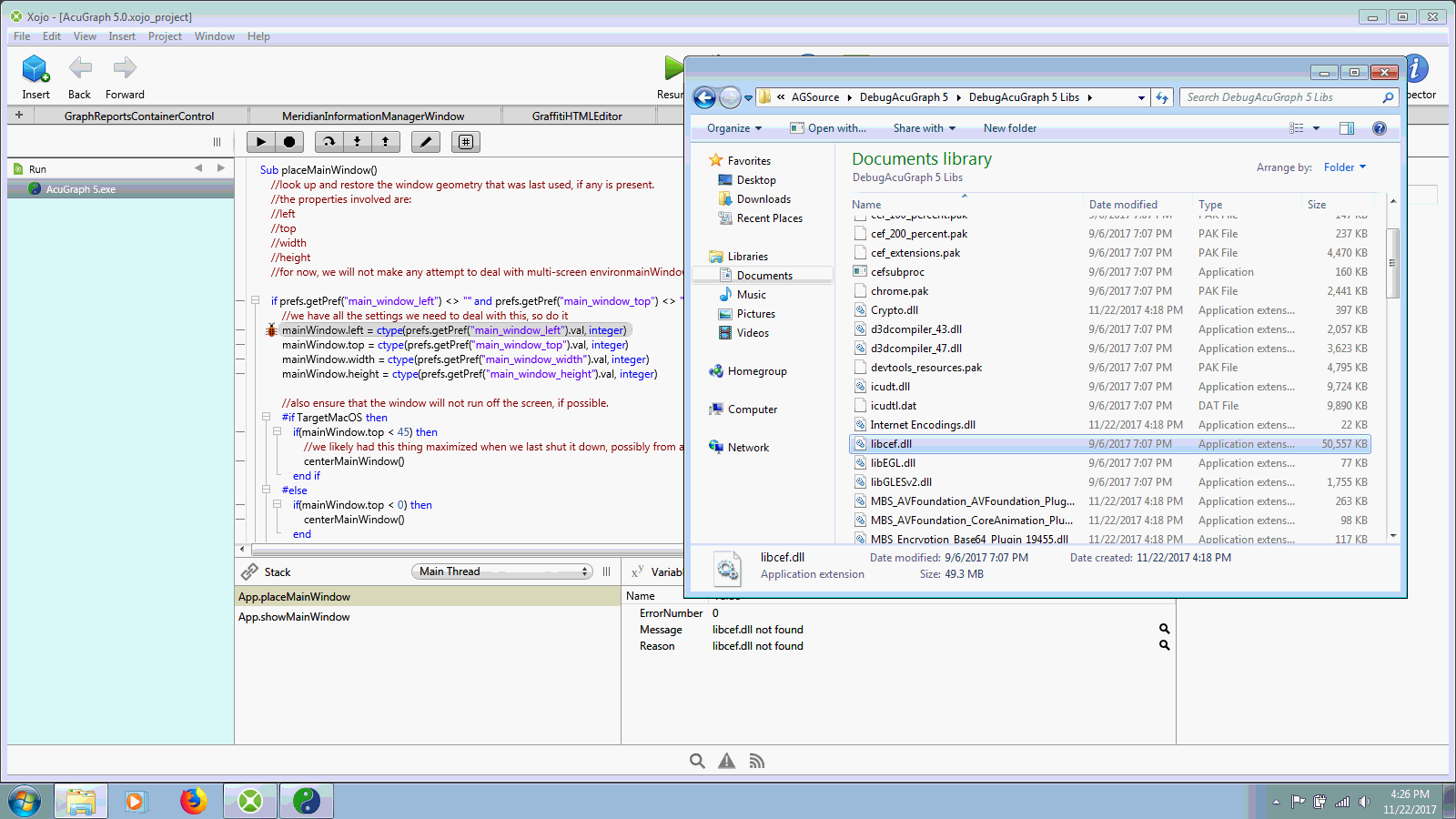 libcef dll not found exception with HTMLViewer - Xojo Forum