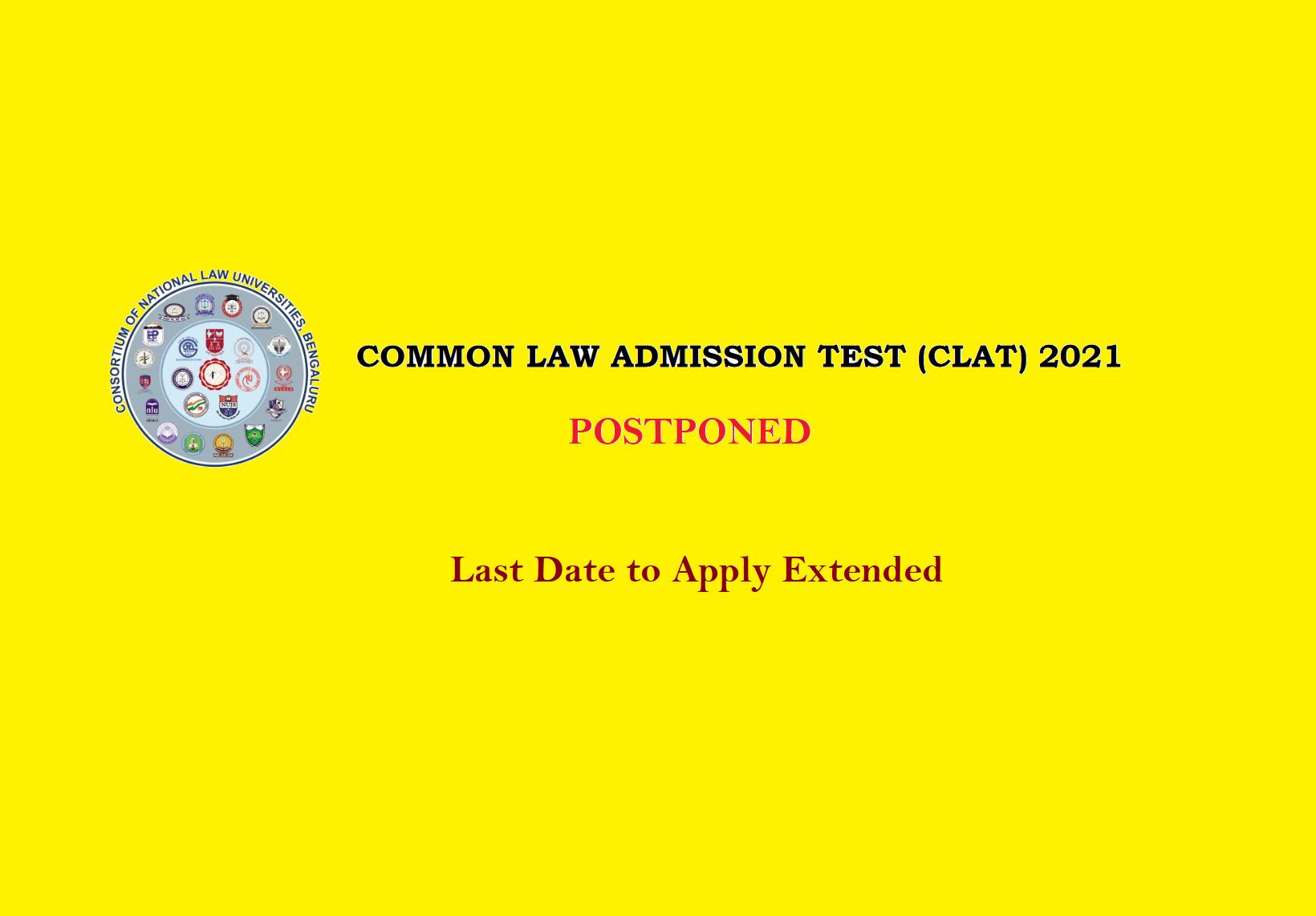 CLAT-2021 Postponed