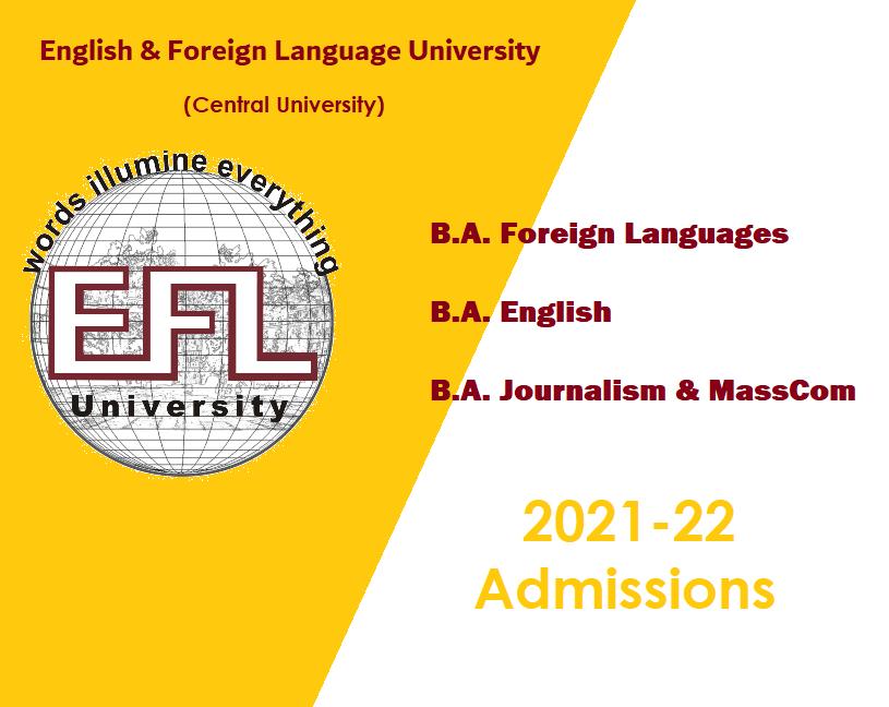 EFLU 2021 Admissions
