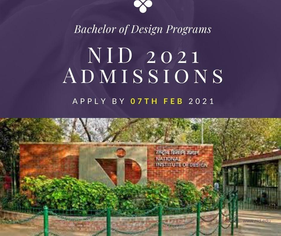 NID-2021 Admissions