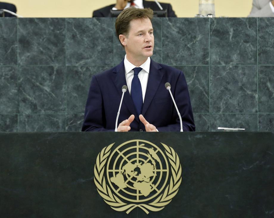 H.E. Mr.Nicholas Clegg, Deputy