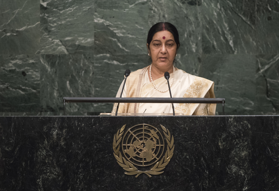 H.E. Mrs. Excellency Sushma Swaraj