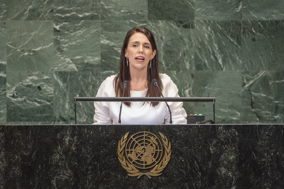 Juggling duties, New Zealand leader brings baby to UN