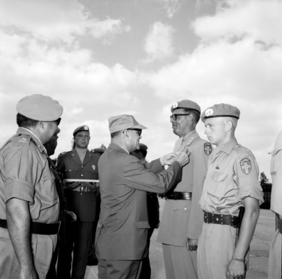 Dr. Bunche Visits UNEF In Gaza