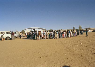 UNTAG Monitors Namibian Voter Registration