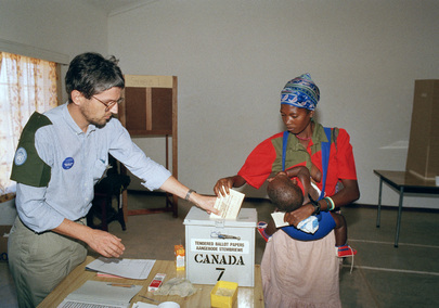 Voters Go to the Polls for Namibia's Pre-Independence Elections