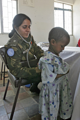 United Nations Peacekeepers Extend Medical Care to Local Population
