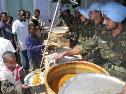 Peacekeepers Help to Feed Local Population