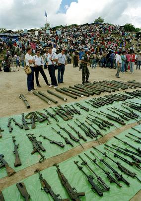 ONUCA Demobilizes Nicaragua Resistance Forces in Honduras