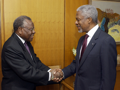 Secretary-General Meets with Senior Minister and Chairman of Ghanaian Government Economic Management Team