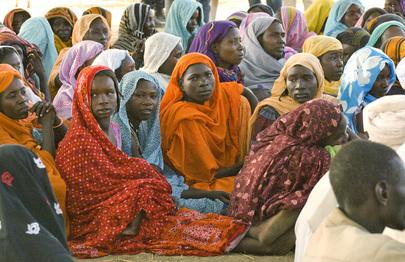 IDP Women Talk to UN Representatives