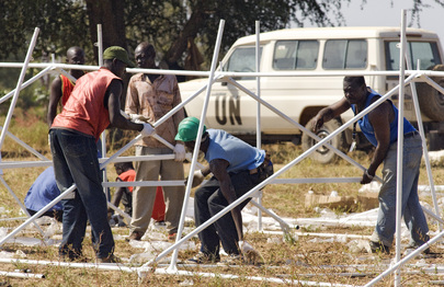 UN Engineers Erect Police Post in Chad