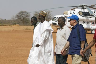 Former President of South Africa Visits MINURCAT