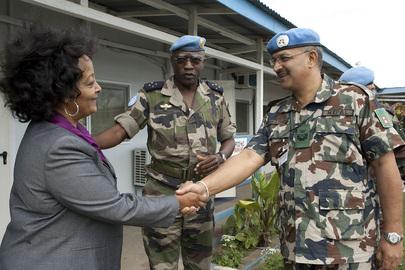 UNMIS Force Commander Meets Head of MONUC Office in North Kivu