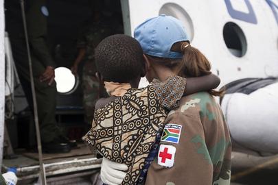 MONUC Paramedic Evacuates Massacre Victim