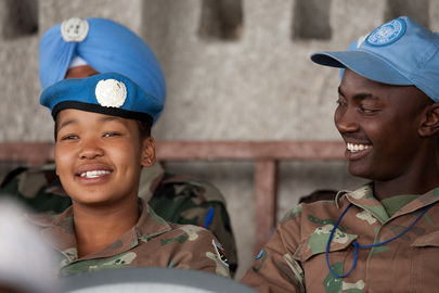 MONUC's Female Blue Helmets Play Football on Peacekeepers Day