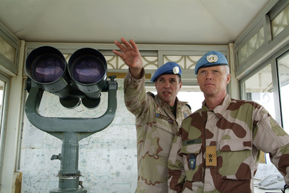 UNTSO Commander visits Post in Golan Heights