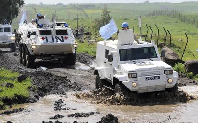 UNDOF Peacekeepers Patrol Golan Heights