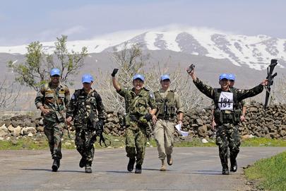 UNDOF Peacekeepers at Camp Faouar