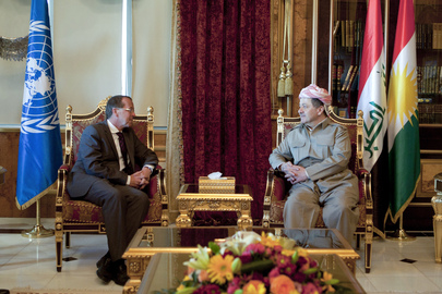 UNAMI Head Meets President of Kurdistan Region