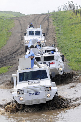 UNDOF Peacekeepers Patrol Golan Heights