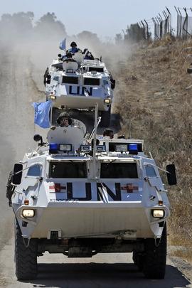 UNDOF Peacekeepers on Patrol in Golan Heights