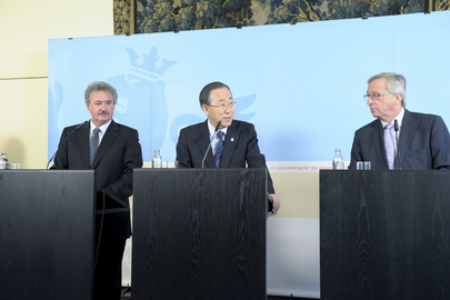 Secretary-General Holds Press Conference with Prime Minister and Foreign Minister of Luxembourg