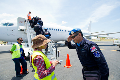 UNMIT's Malaysian Police Return Home after Service to Mission