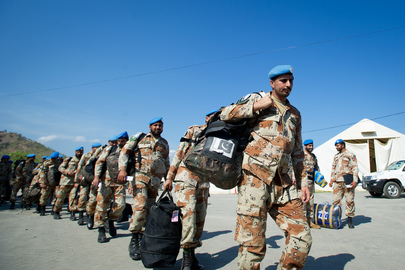 Pakistani Police Return Home after Service to UNMIT