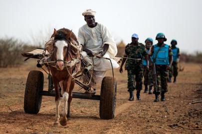 UNAMID Peacekeepers on Patrol near Khor Abeche, South Darfur