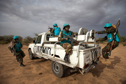 UNAMID Peacekeepers on Patrol near Khor Abeche, South Darfur