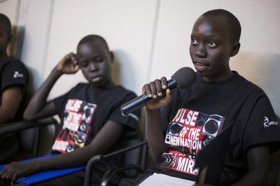 Children's Peace Day Debate on Radio Miraya