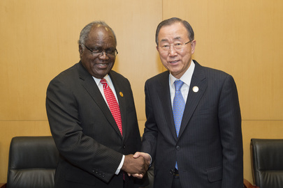 Secretary-General Meets President of Namibia in Addis Ababa