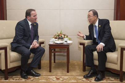Secretary-General Meets Prime Minister of Sweden in Addis Ababa