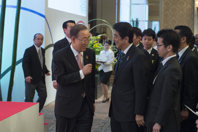Secretary-General Attends Reception Hosted by Japanese Minister of State for Disaster Management