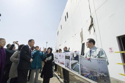 Secretary-General Visits Minami Gamo Wastewater Treatment Plant in Sendai