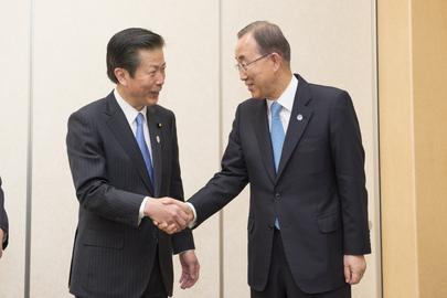 Secretary-General Meets Komeito Party Leader