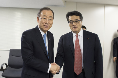Secretary-General Meets Leader of the Democratic Party of Japan