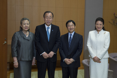 Secretary-General Meets Crown Prince and Princess of Japan