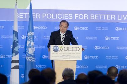 Secretary-General Addresses OECD Ambassadors and Staff