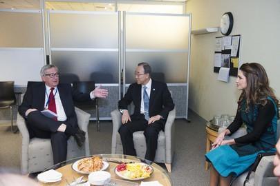 Secretary-General Meets Queen of Jordan, President of European Commission