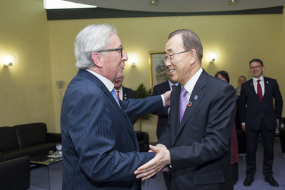 Secretary-General Meets European Commission President in Brussels