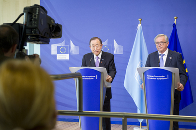 Secretary-General, European Commission President at Joint Press Conference