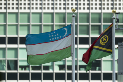 Flags of Member States Flying at UN Headquarters: Uzbekistan
